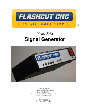 FlashCut CNC 501A Signal Generator Manual