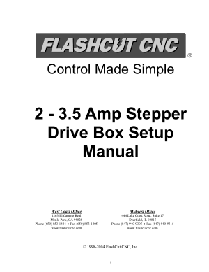 FlashCut CNC Stepper Drive Box Setup Manual