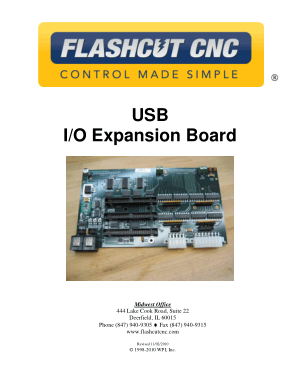 FlashCut CNC USB I/O Expansion Board Manual