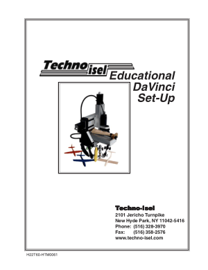 Techno isel Educational DaVinci Set-Up