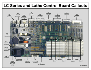 LC Series and Lathe Control Board Callouts