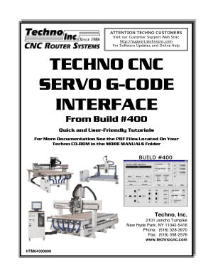 Techno CNC Servo G-Code Interface Manual