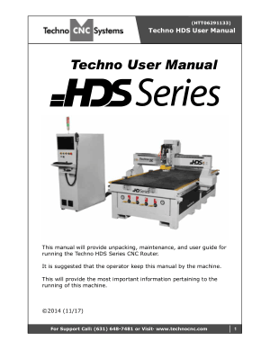 Techno HDS Series User Manual
