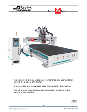Techno CNC D Series User Manual