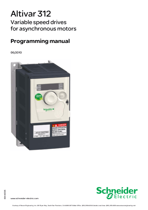 Schneider Altivar 312 Programming manual