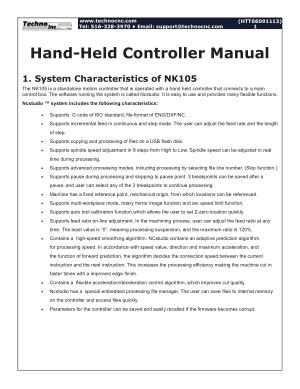 Techno Hand-Held Controller Manual