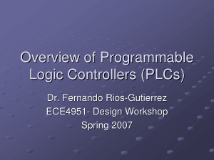 PLC Programmable Logic Controller Overview