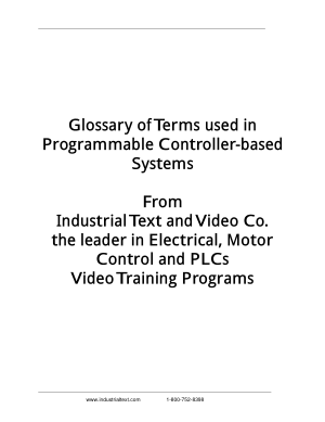 Programmable Logic Controller PLC Glossary of Terms