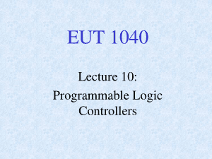 Programmable Logic Controllers (Lecture)