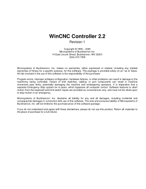 WinCNC Controller 2.2 Users Guide
