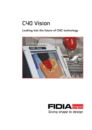 FIDIA C40 Vision Looking into the future of CNC technology