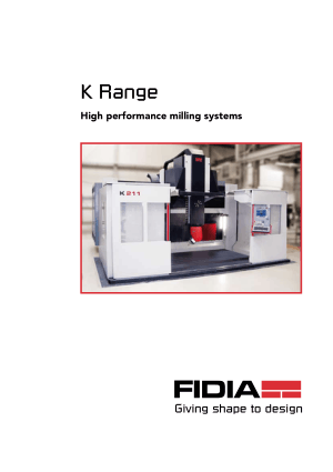 FIDIA K Range High performance milling systems