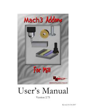 Mach3 Addons for Mill User Manual