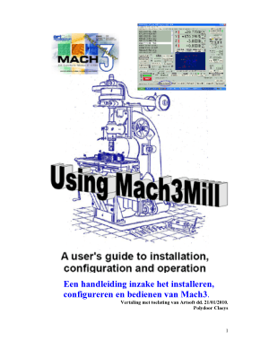 Mach3 Dutch Manual