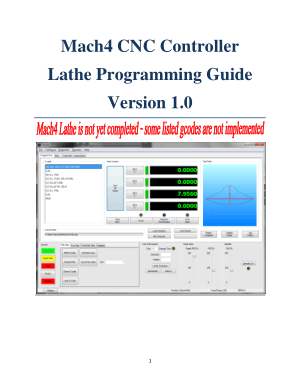 Mach4 CNC Lathe Programming Manual