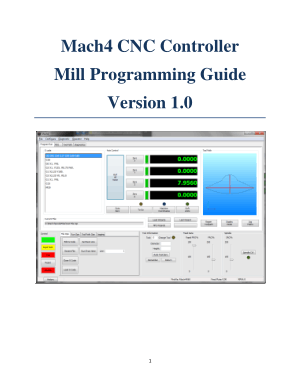 Mach4 CNC Mill Programming Manual