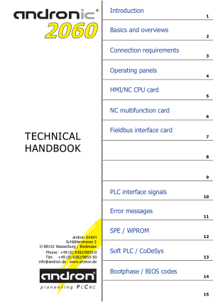 Andronic 2060 Technical Handbook