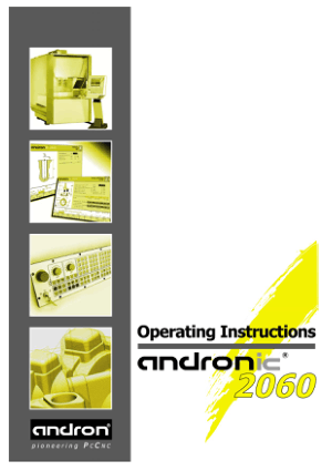 Andronic 2060 Operating Manual