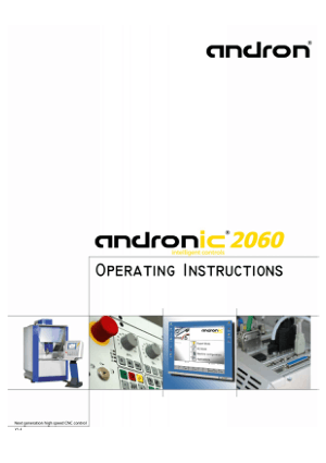 andronic 2060 Operating Instructions