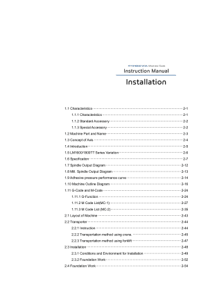 Hyundai WIA LM1600 1800TT Instruction Manual