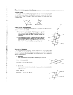 Fundamentals of Plane Geometry