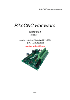 PikoCNC Hardware Manual board v2.1