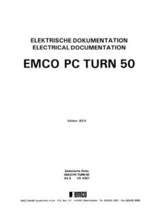 EMCO PC Turn 50 Electrical Documentation