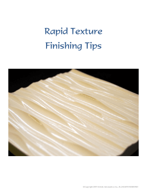 EnRoute Finishing Tips for Rapid Texture