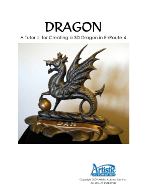 EnRoute 4 Creating a 3D Dragon Tutorial