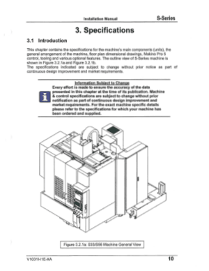 PIC Makino S-Series Installation Manual