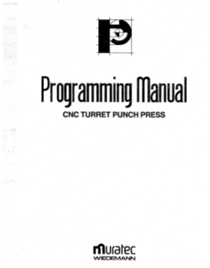 Muratec CNC Turret Punch Press Programming Manual