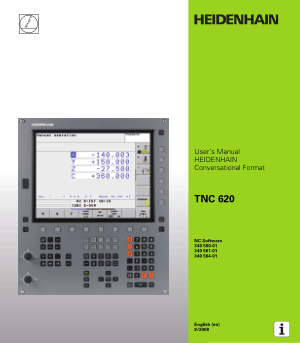 Heidenhain TNC 620 Conversational Format Users Manual