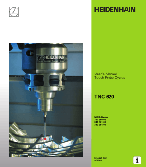 Heidenhain TNC 620 Touch Probe Cycles Users Manual