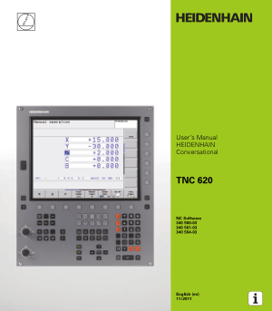 Heidenhain TNC 620 Conversational Users Manual