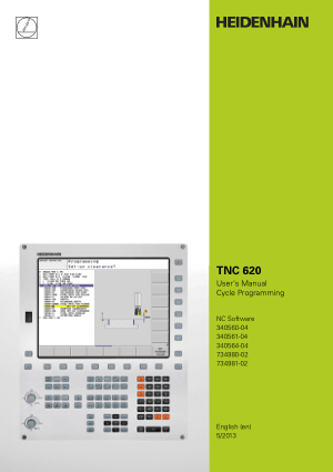 Heidenhain TNC 620 Cycle Programming Users Manual