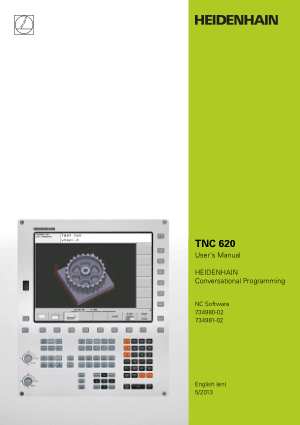 Heidenhain TNC 620 Conversational Programming Users Manual 2013