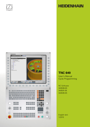 Heidenhain TNC 640 Cycle Programming Manual