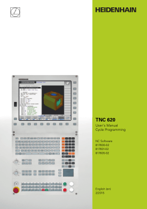 Heidenhain TNC 620 Cycle Programming Manual 2015