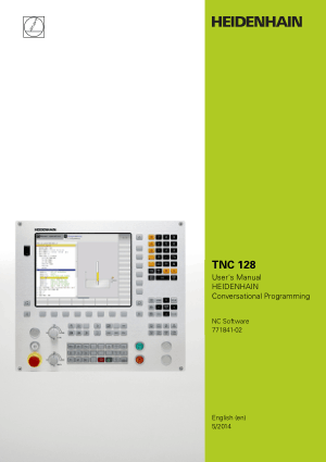 Heidenhain TNC 128 Conversational Programming User Manual