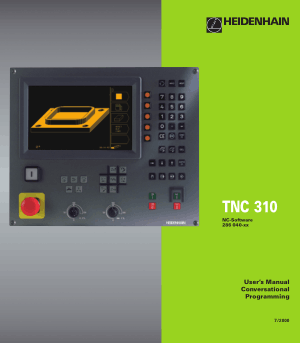 Heidenhain TNC 310 Conversational Programming User Manual