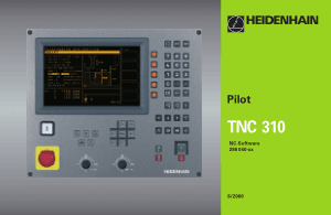 Heidenhain TNC 310 Pilot Manual