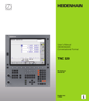 Heidenhain TNC 320 Conversational Format User Manual