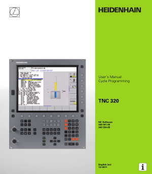 Heidenhain TNC 320 Cycle Programming Manual