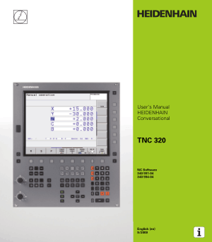 Heidenhain TNC 320 Conversational Manual 340 554-04