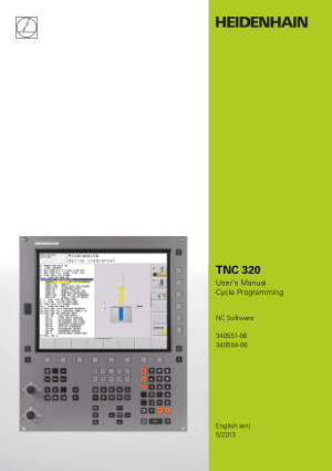 Heidenhain TNC 320 Cycle Programming Manual 340554-06