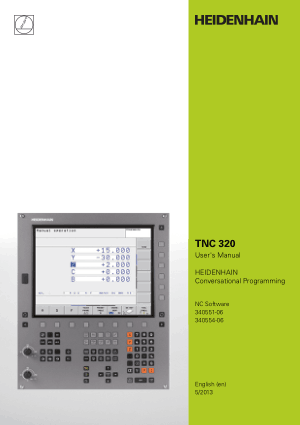 Heidenhain TNC 320 Conversational Programming Manual 340554-06