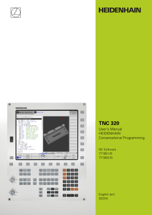 Heidenhain TNC 320 Conversational Programming Manual 771855-01