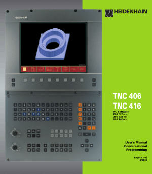 Heidenhain TNC 406 Conversational Programming Manual