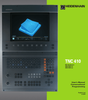 Heidenhain TNC 410 Conversational Programming Manual