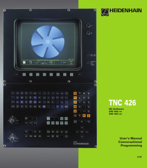 Heidenhain TNC 426 Conversational Manual 280 463 xx
